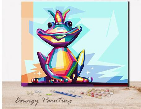 REF400-ENERGY-PAINTING-PEINTURE-PAR-NUMERO-GRENOUILLE-POP-ART