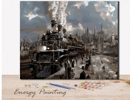 REF416-ENERGY-PAINTING-PEINTURE-PAR-NUMERO-TRAIN-POLE-EXPRESS