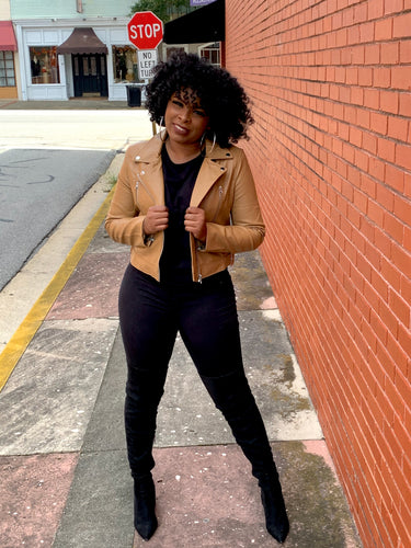 Bad Gal | Caramel Biker Jacket