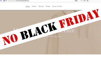 No black Friday bei Shirts and Sweaters