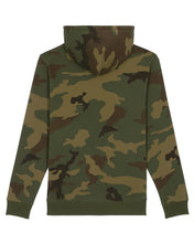 Laden Sie das Bild in den Galerie-Viewer, Damen Öko Hoodie Camouflage