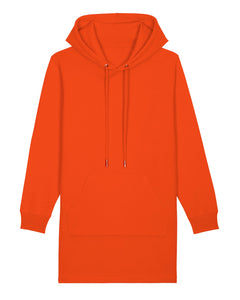 Damen Bio Sweatkleid orange