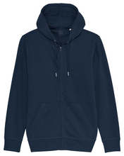 Laden Sie das Bild in den Galerie-Viewer, herren bio baumwoll sweatjacke navy