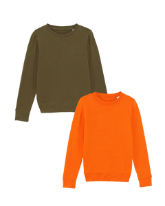 Kinder Bio Sweatshirt khaki ornage
