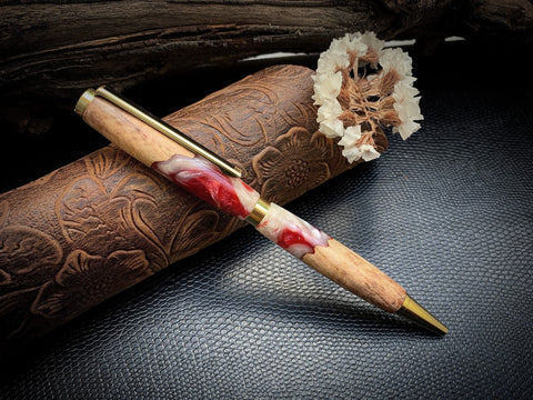 Wood and resin pen