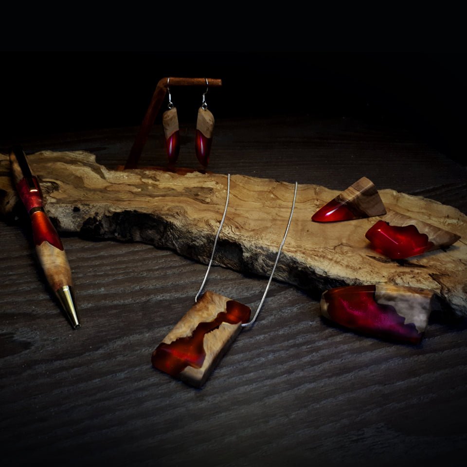 Blood Nile Wood and Resin Jewellery