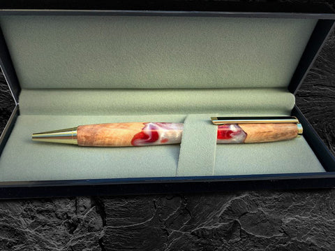 Wood anr resin pen in gift box