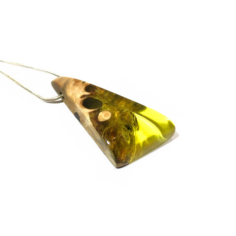 Wood and Resin Hand made Gift - Boho-Chic Style pendant
