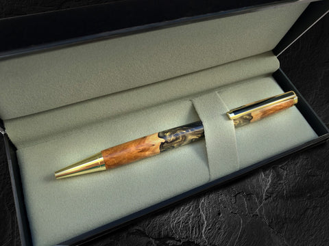 Wood and resin pen in gift box
