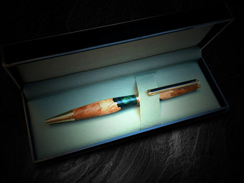 Wod and resin pen in gift case