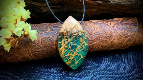 Wood and resin Pendant