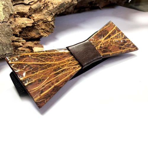 Cactus Fiber and Resin Bow Tie - Wearable Wood