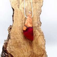 Load image into Gallery viewer, BLOOD NILE - Triad - Olive Wood and resin pendant