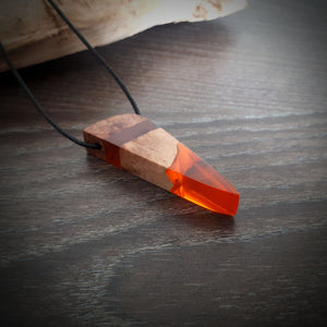 AUTUMN LEAF - Outcast - Red Mallee - Resin Jewelry - Necklace