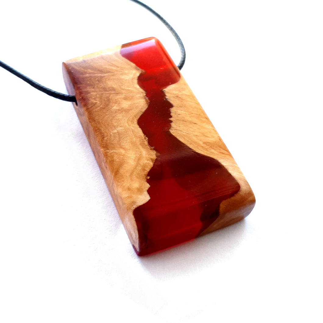 BLOOD NILE - Quadrant - Red Mallee Burl - Wearable Wood