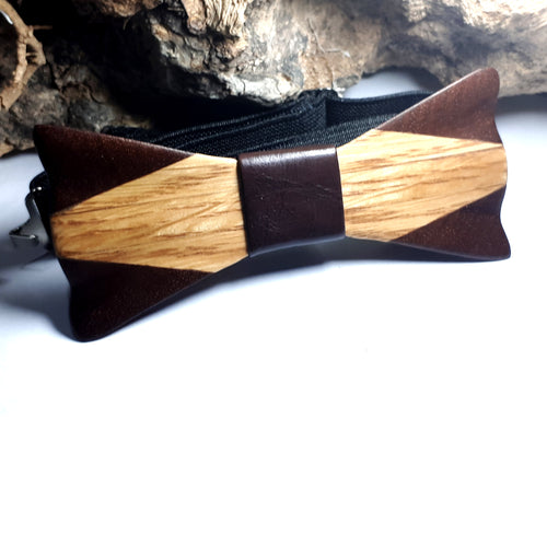 Ash Wood & Mahogany Bow-Tie - Wearable Wood