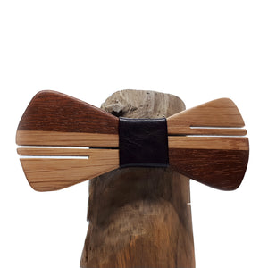 Ash-Wood & Mahogany Bow Tie - Wearable Wood