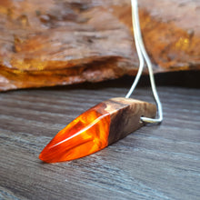 Load image into Gallery viewer, AUTUMN LEAF - Outcast - Olive Wood - Resin Necklace - Jewelry - Wearable Wood
