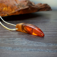 Load image into Gallery viewer, AUTUMN LEAF - Outcast - Olive Wood - Resin Necklace - Jewelry