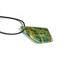 Load image into Gallery viewer, Ocean Star - Dart - Cactus Fiber Resin Necklace - Handmade Wood and Resin Jewelry - Wearable Wood
