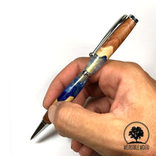 Load image into Gallery viewer, OCEAN BLUE - Red Mallee - Wood and Resin Pen