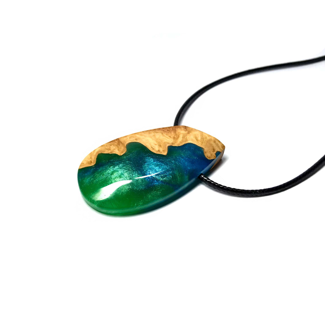 SEQUOIA - Pebble - Amazon - Wood Resin Pendant