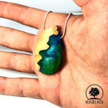 Load image into Gallery viewer, SEQUOIA - Pebble - Amazon - Wood Resin Pendant