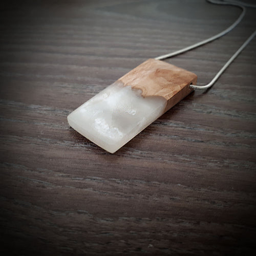 PEARL - Quadrant - Wood Resin Pendant