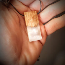 Load image into Gallery viewer, PEARL - Quadrant - Wood Resin Pendant - Wearable Wood