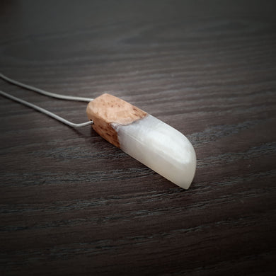 PEARL -Outcast - Wood Resin Pendant