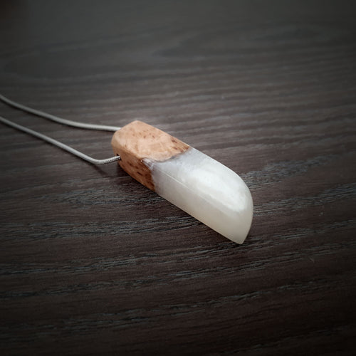 PEARL -Outcast - Wood Resin Pendant - Wearable Wood