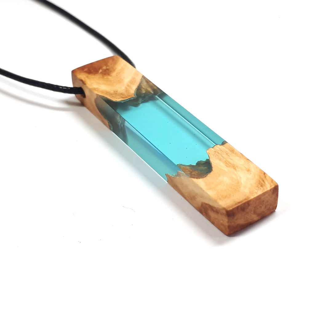 Ocean Star - Lagoon - Quadrant - Red Mallee - Resin Necklace - Jewelry - Wearable Wood