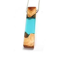Load image into Gallery viewer, Ocean Star - Lagoon - Quadrant - Red Mallee - Resin Necklace - Jewelry - Wearable Wood