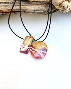 Best Friends Forever |  Blood Nile Wood Resin Couple Necklace