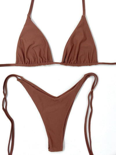 AUTUMN TRIANGLE TOP $29 // AUTUMN V CHEEKY BOTTOM $29-ROSEWOOD ($58 SET) - Berry Beachy Swimwear