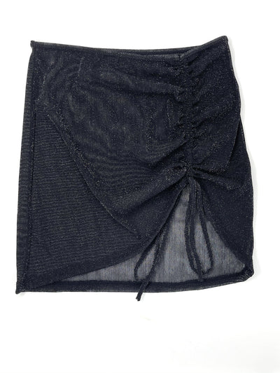 SHEER COVER UP SKIRT- SPARKLY BLACK **PRE ORDER** - Berry Beachy Swimwear
