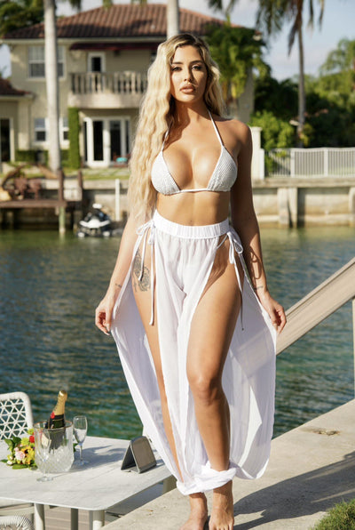 JAZMINE JOGGER-WHITE - Berry Beachy Swimwear