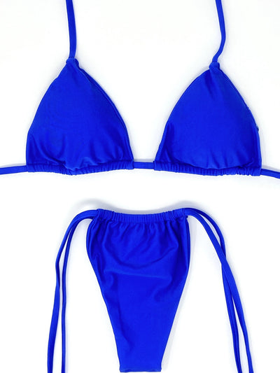 BERRY ITTY TRIANGLE TOP $29 // BERRY ITTY SLIDE BOTTOM $29 - ELECTRIC BLUE (SET $58) - Berry Beachy Swimwear