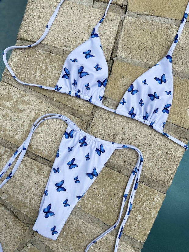 BLUE IVY TRIANGLE TOP $29// BLUE IVY SLIDE BOTTOM $29 (SET $58) - Berry Beachy Swimwear