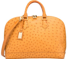 Load image into Gallery viewer, LOUIS VUITTON VINTAGE ALMA PM BAG-CAMEL OSTRICH