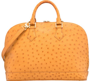 LOUIS VUITTON VINTAGE ALMA PM BAG-CAMEL OSTRICH