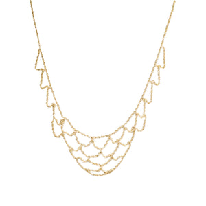 """MEENA"" GOLDEN NET NECKLACE"
