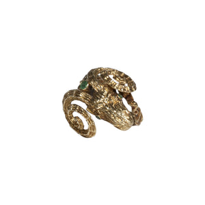 """CATHY"" VINTAGE EMERALD RAM RING"