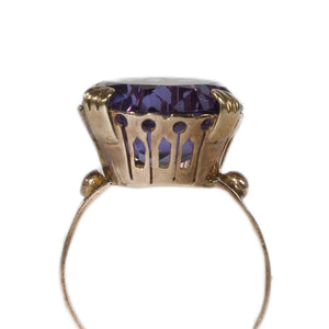 """AYLIN"" VINTAGE AMETHYST COCKTAIL RING"