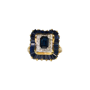 """MARLEY"" SAPPHIRE & DIAMOND COCKTAIL RING"