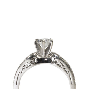 """VALENTINA"" SOLITAIRE OVAL ENGAGEMENT RING"