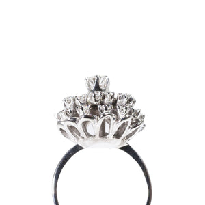 """ASTERACEAE"" DIAMOND ENGAGEMENT RING"