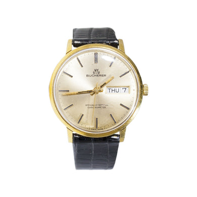 MEN'S VINTAGE BUCHERER GOLD WATCH