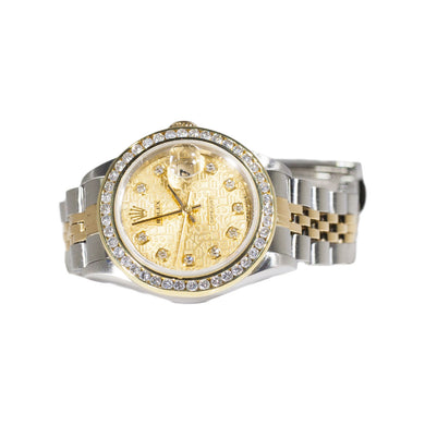 LADIES TWO-TONE OYSTER PERPETUAL DATEJUST ROLEX