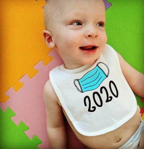 Baby Bib: Social Distancing Birth Year (Unisex)